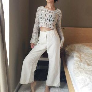 Emma James Petite Linen Blend Casual Pants
